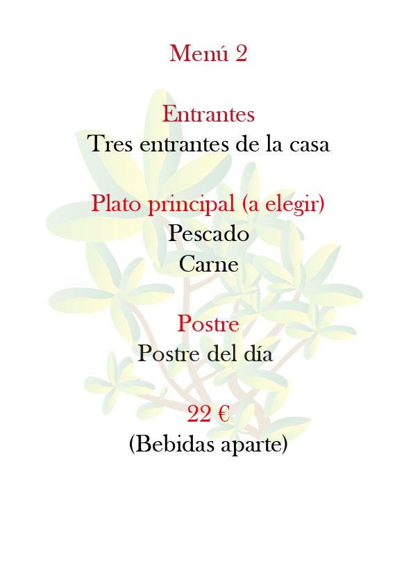 Menú del Restaurante Castillo de Godella