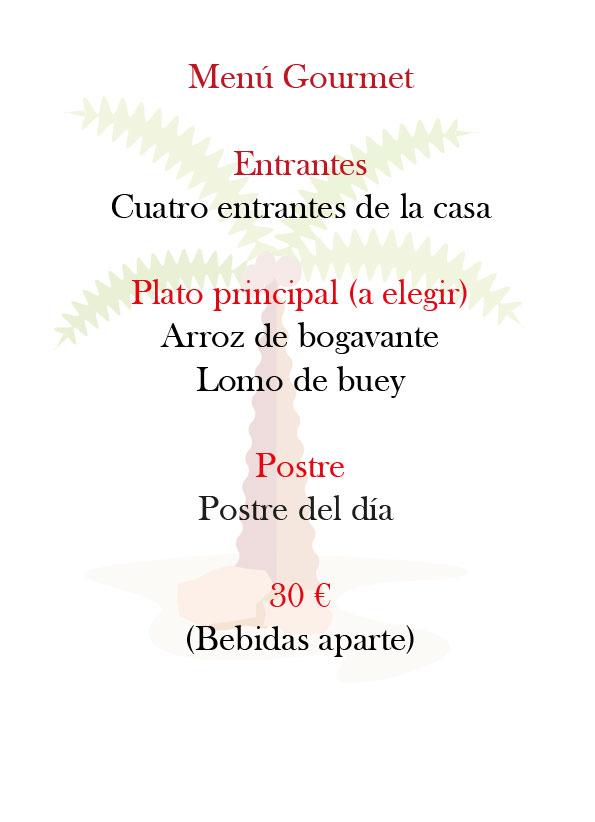 Menú Gourmet del Restaurante Castillo de Godella