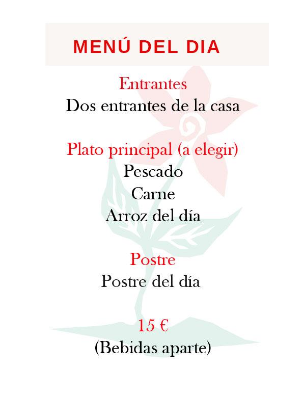 Menú del día del Restaurante Castillo de Godella